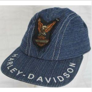 Harley Davidson Denim Infant Hat Adjustable Strap